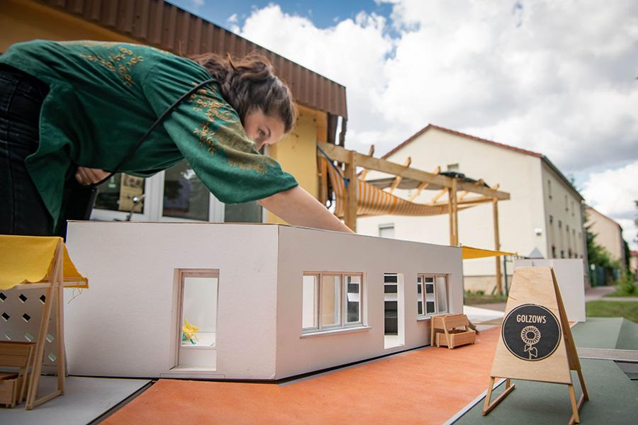 Summerschool Projekt der Sto-Stiftung in Golzow am 14.08.2019