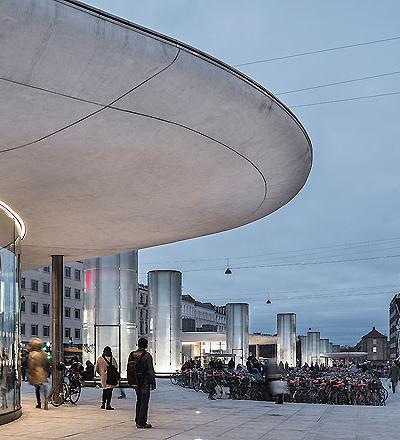 Busstation in Kopenhagen von Cobe und Gottlieb Paludan Architects