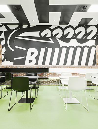Cafeteria Contrast in Stuttgart von ZieglerBürg