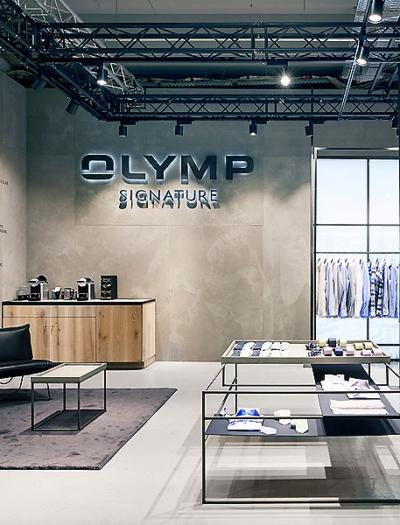 Messestand von Olymp Signature in Berlin von blocher partners