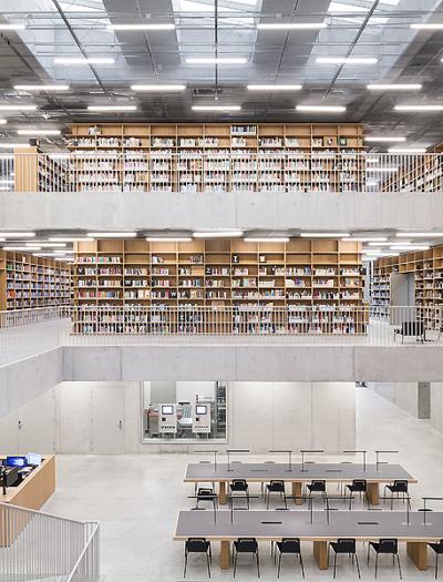 Utopia – Bibliothek und Akademie der Darstellenden Künste in Aalst von Kaan Architecten