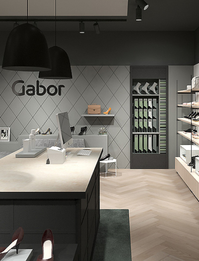 Schuhgeschäft in Rosenheim von D´art Design Gruppe