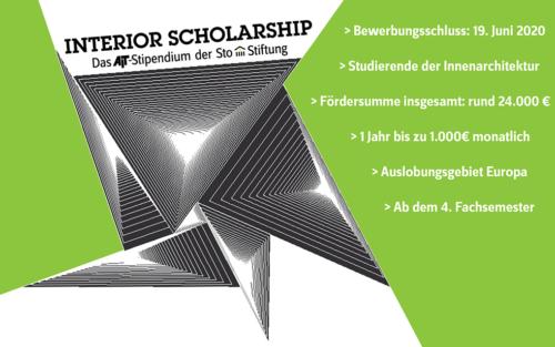Interior Scholarship – das AIT-Stipendium der Sto-Stiftung 2020/21