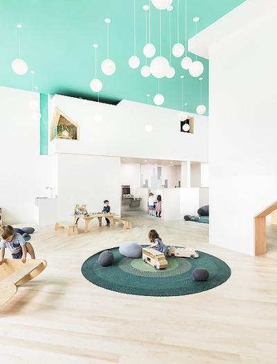 Vorschule mit Kulturzentrum in New York von Barker Associates Architecture Office