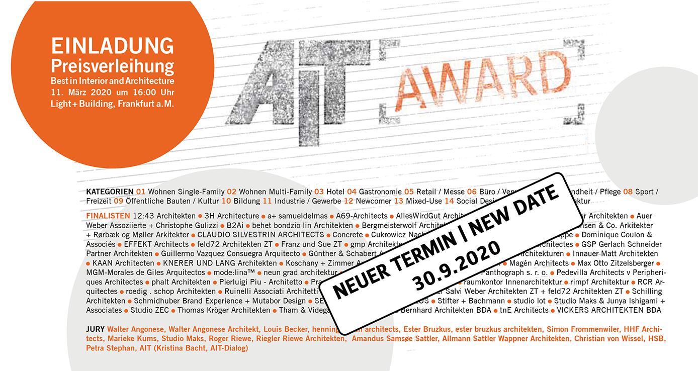AIT-Award 2020 - Die Finalisten stehen fest