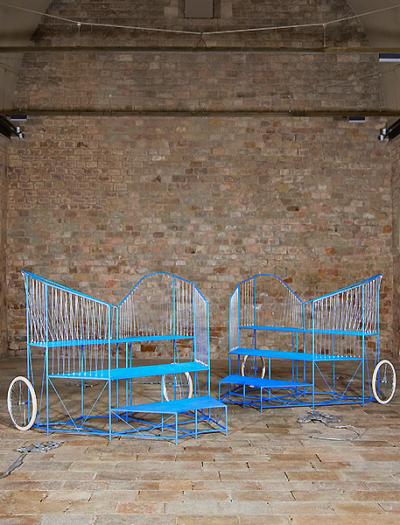 Installation von Lluís Alexandre Casanovas Blanco für das La Capella Museum in Barcelona