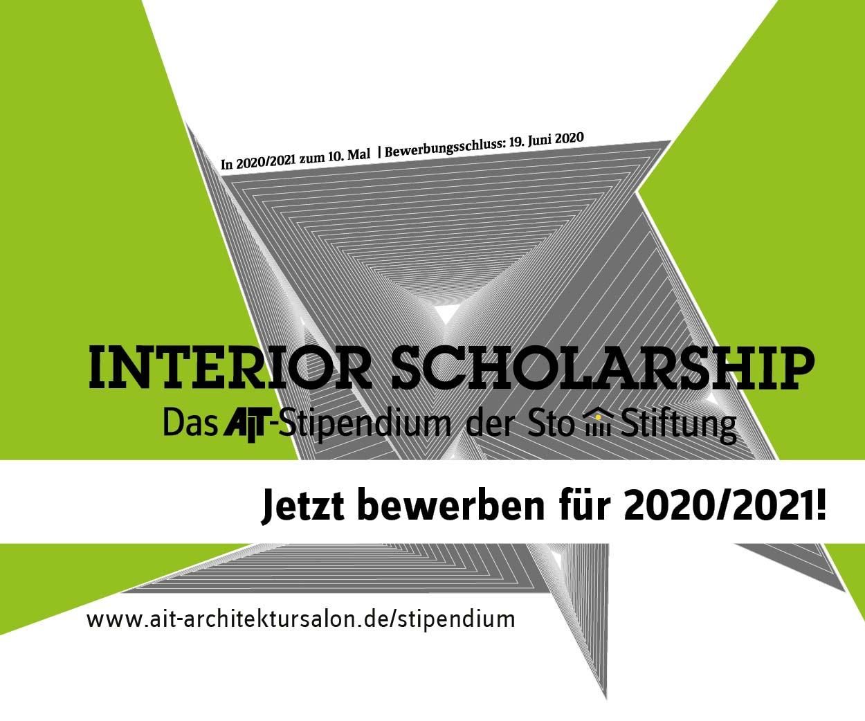 Interior Scholarship – Das AIT-Stipendium der Sto-Stifung