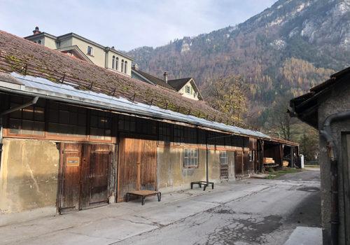 Das Werksgelände in Glarus