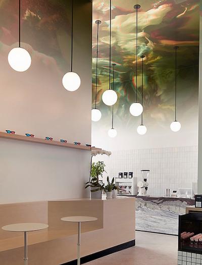 Café Stereoscope Coffee in Newport Beach von David Wick und Andrew Lindley