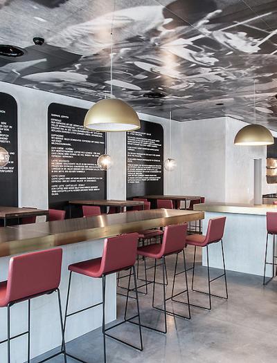 Restaurant Ambassador House in Zürich von Clemens Bachmann Architekten