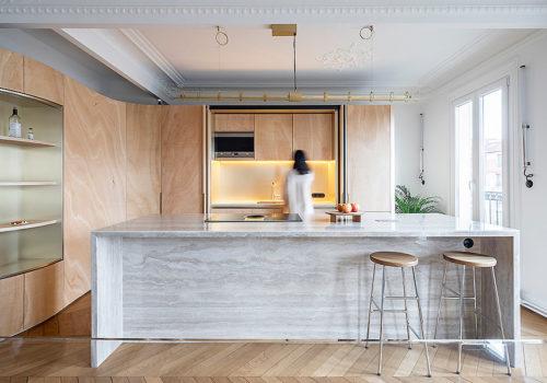 Wood Ribbon Apartment in Paris 02