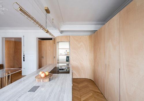 Wood Ribbon Apartment in Paris 04