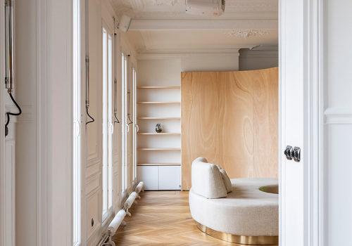 Wood Ribbon Apartment in Paris 05