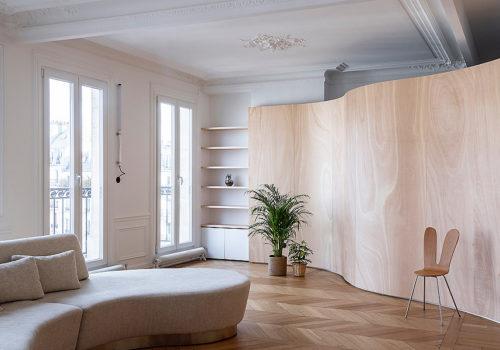 Wood Ribbon Apartment in Paris 07