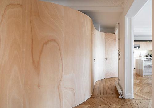 Wood Ribbon Apartment in Paris 08