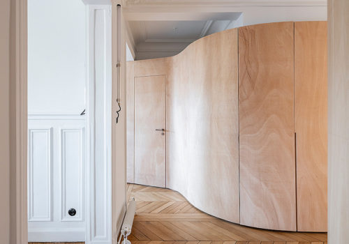 Wood Ribbon Apartment in Paris 09