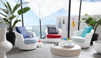 Im Fokus: So farbenfroh wie der Sommer – innovative Outdoor Polsterbezugsstoffe von Continental