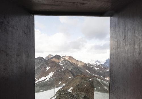 Aussichtsplattform am Schnaltalgletscher 07