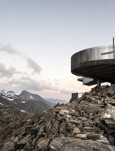 Aussichtsplattform am Schnalstaler Gletscher von noa* network of architecture