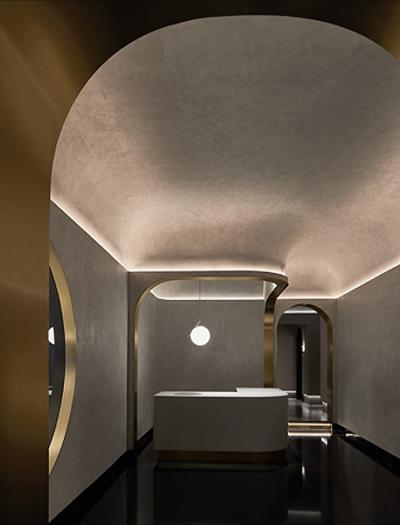 Massagestudio in Shanghai von Vermilion Zhou Design Group