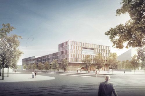 Strafjustizzentrum München | © FRICK KRÜGER NUSSER- PLAN2 ARCHITEKTEN / Visualisierung: archlab