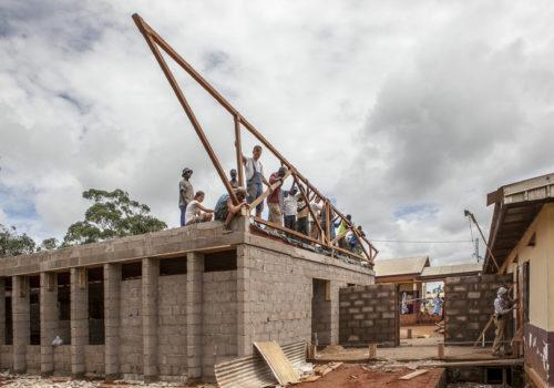 Baustelle des Krankenhaus in Ngaoubela