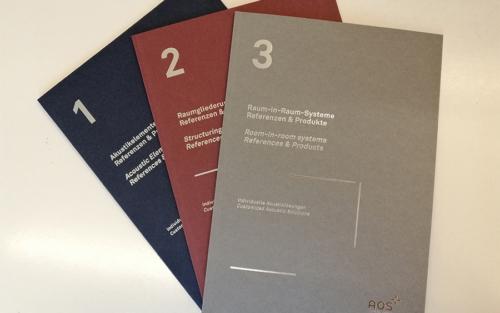 AOS Akustik Office Systeme – Referenzbroschüren 1-3