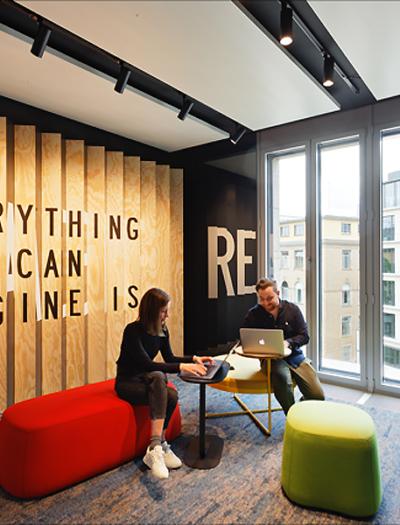 Allianz Future Lab im mainBuilding in Frankfurt von Just/Burgeff Architekten