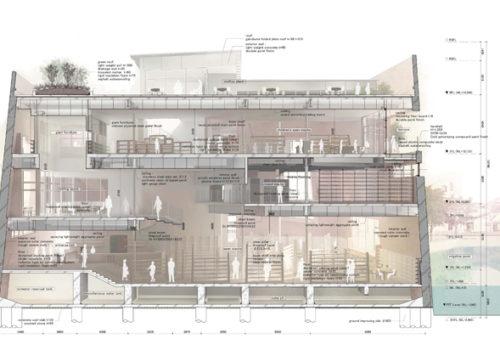 Neue Stadtbibliothek in Matsubara 17