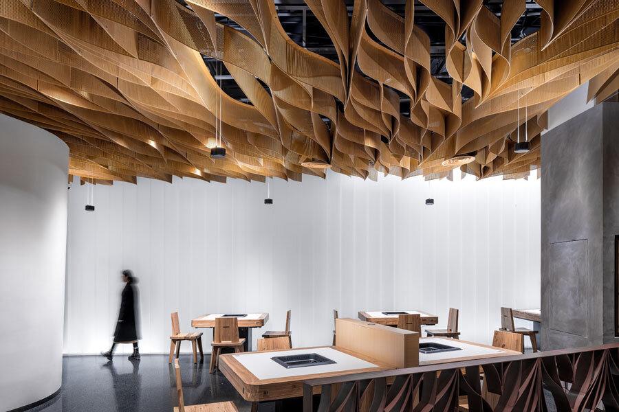 Restaurant in Zhengzhou von Studio Link-Arc