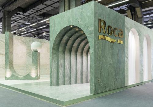 Messestand für Roca Tile 01