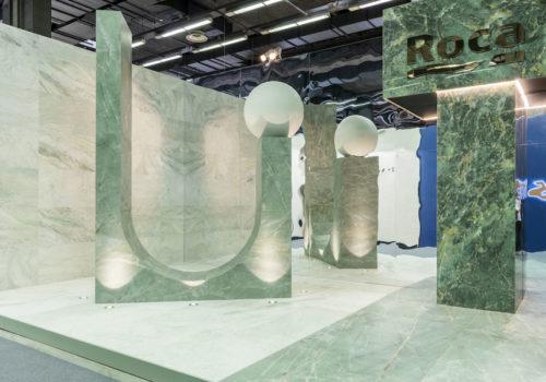 Messestand für Roca Tile 02