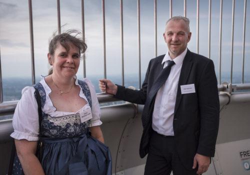 Verlegerin Claudia Weinbrenner-Seibt und Uwe M. Schreiner