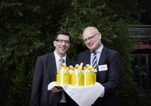 Jan Krause (Sto) und Till Stahlbusch (Sto-Stiftung)