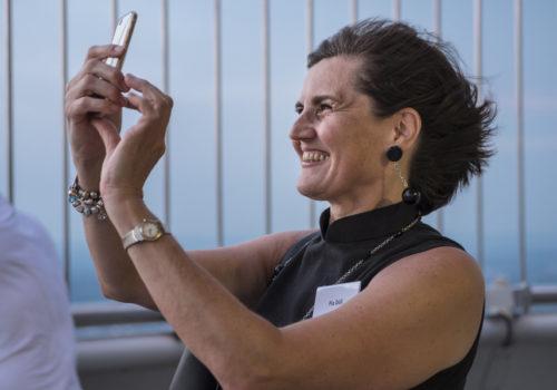 Pia Döll – BDIA-Vizepräsidentin hält die Eindrücke fest.