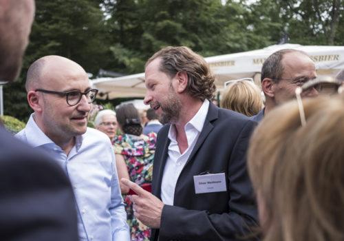 Freuen sich über ein Wiedersehen: Matthias Qinkert (Carpet Concept) und Oliver Waidmann (Deltalight)