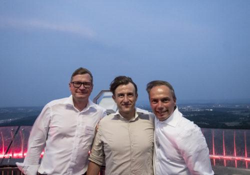 Carsten Tümpner (Caparol), Janosch Muschick und Frank Seeman (Erfurt)