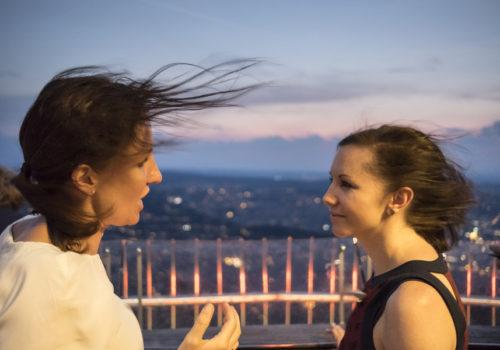 Christine Schröder (AIT) und Manuela Leitner (Egger)