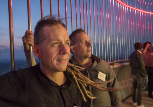 Festredner und treue AIT-Fans: die Kolumnisten Benjamin und Dominik Reding aus Berlin