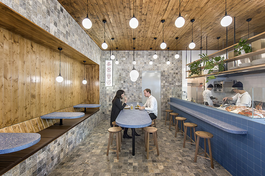 Smallfry Seafood in Adelaide von Sans-Arc Studio