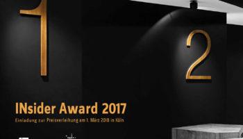 INsider Award 2017 – Preisverleihung