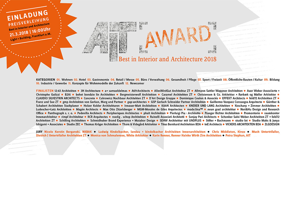 AIT-Award 2018 - Preisverleihung