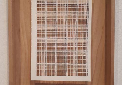 Fiene Scharp: Ohne Titel (Serie), 2014-2016, Papierschnitt in Holzrahmen VG Bild-Kunst, Bonn 2018, Foto: Annette Weckesser