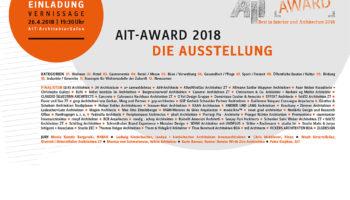 AIT-Award 2018 –  Ausstellung im AIT-ArchitekturSalon München