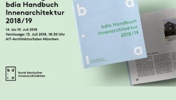 bdia Handbuch Innenarchitektur 2018/19 – Ausstellung im AIT-Architektursalon München