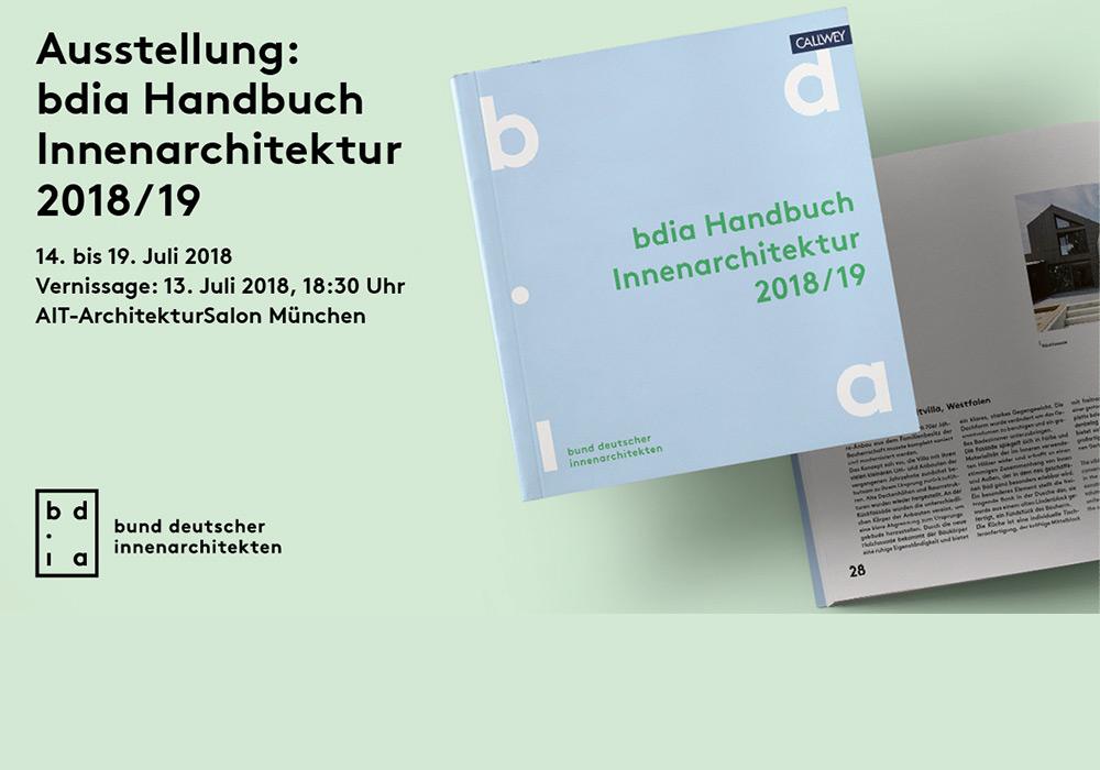 bdia Handbuch Innenarchitektur 2018/19 - Ausstellung im AIT-Architektursalon München