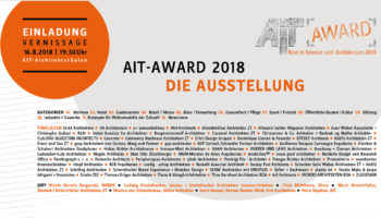 AIT-Award 2018 – Ausstellung im AIT-ArchitekturSalon Hamburg