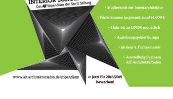 Interior Scholarship – das AIT-Stipendium der Sto-Stiftung