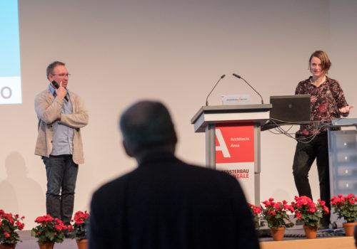 9. Forum Architektur-Fenster-Fassade - Astrid Piber, UNStudio van Berkel Bos, Amsterdam und Co-Moderator Thomas Auer, TransSolar, KlimaEngineering