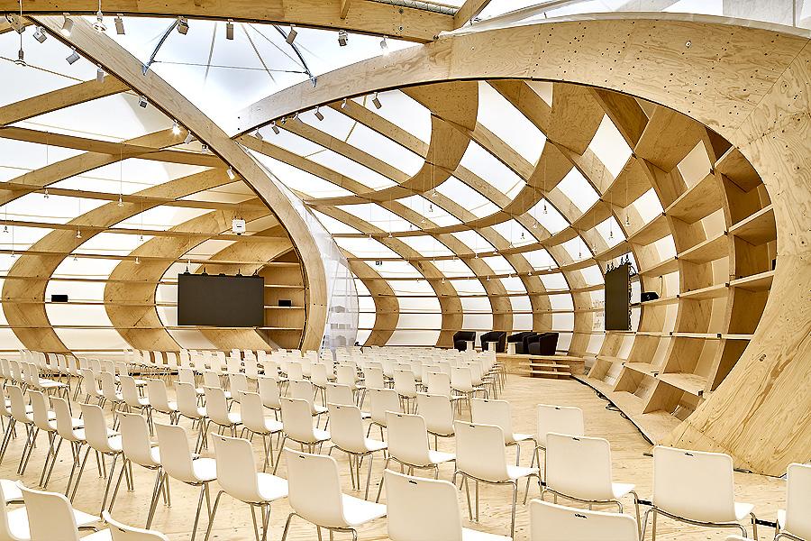 Buchmessen-Pavillon in Frankfurt am Main von schneider+schumacher